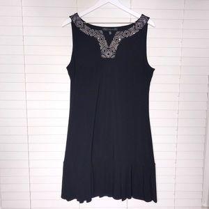 WHBM Embellished Pleat-Hem Dress